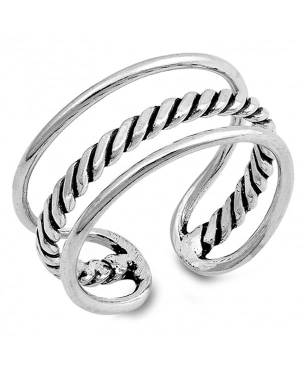 Open Design Triple Sterling Silver