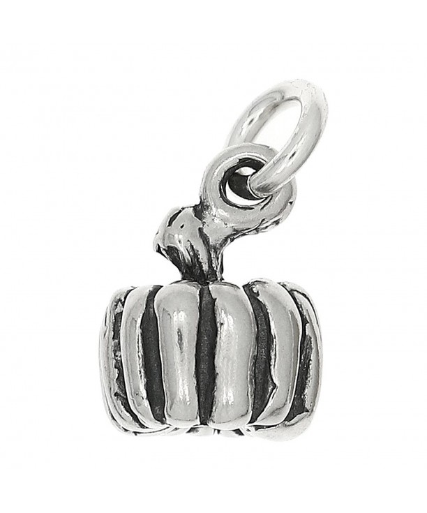 Sterling Silver Oxidized Dimensional Pumpkin