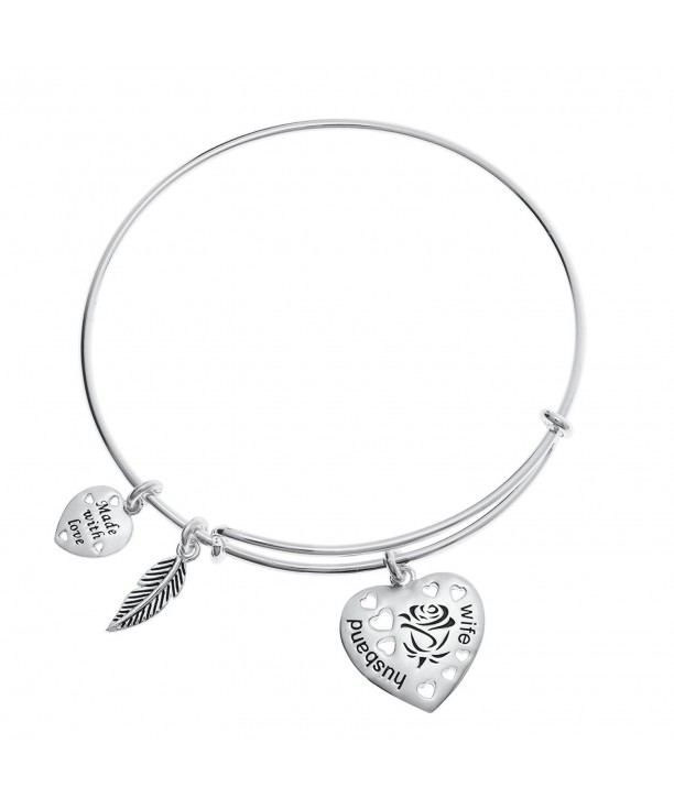 Sterling Husband Feather Adjustable Bracelet