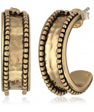 Barse Basics Beaded Bronze Earrings