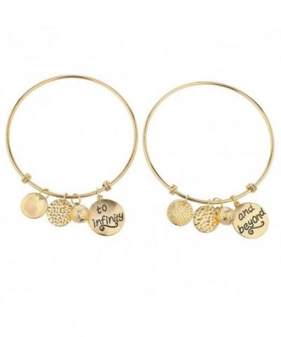 Lux Accessories Goldtone Infinity Bracelets
