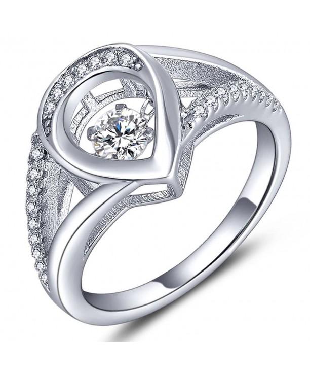 Teardrop Ring White Waterdrop Engagement Girlfriend
