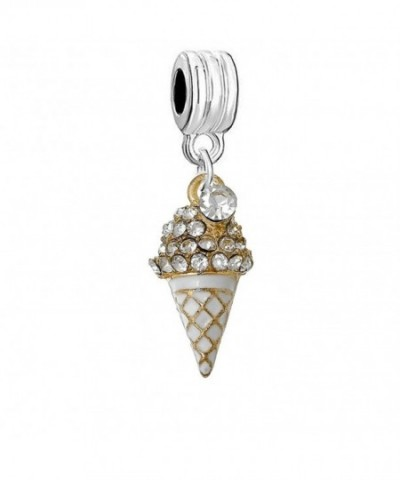 Cream Dangle Compatible European Bracelets