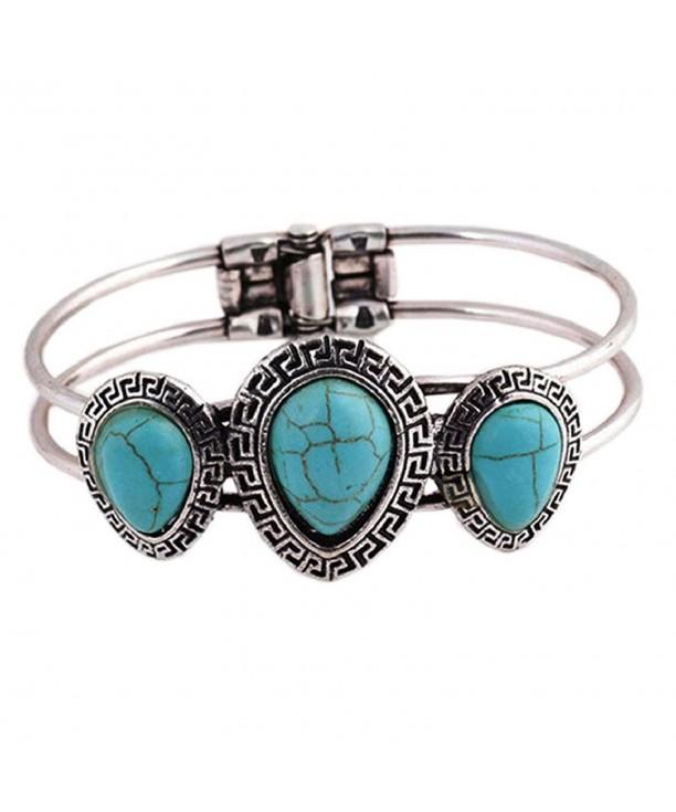 SusenstoneBohemian Style Plating Turquoise Bracelet