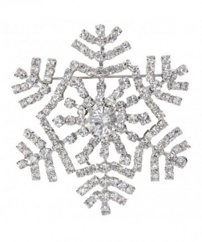 EVER FAITH Austrian Snowflake Silver Tone