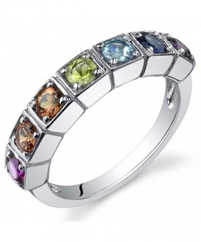Rainbow Carats Sterling Silver Rhodium