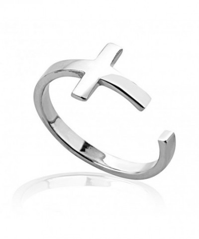Sterling Silver Modern Sideways Christian