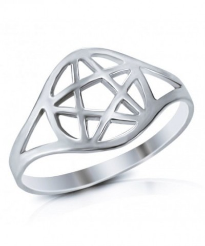 Sterling Silver Wicca Pentacle Ring