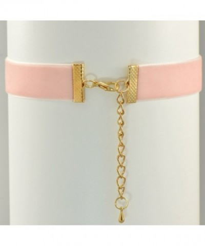 067b677881bdf Pale Pink Velvet Belt Gothic Choker Necklace 12-15 Inches C2182YDUO8E