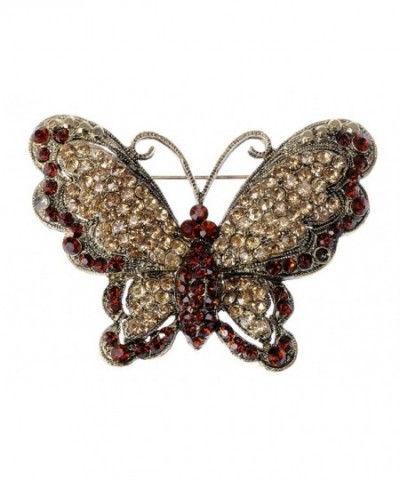 Alilang Victorian Antique Rhinestone Butterfly