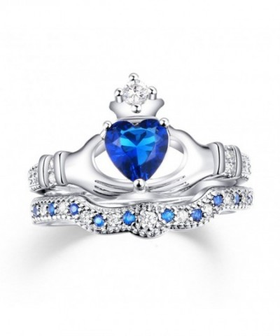 Created Sapphire Wedding Jewelry Plated