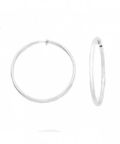 Solid Spring Silvertone Clip Earrings