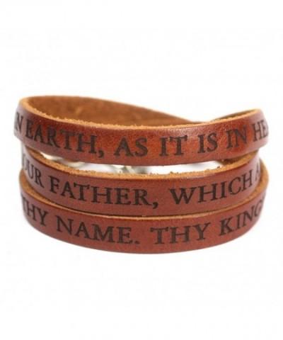 Lords Prayer Designer Leather Bracelet