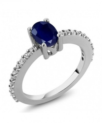 Sapphire White Created Sterling Silver