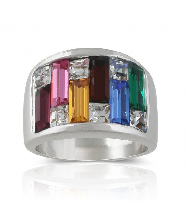 JanKuo Jewelry Baguette Crystals Cocktail