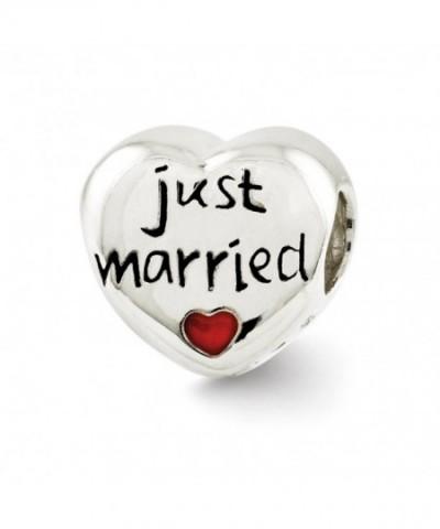 Sterling Silver Enameled Married Heart
