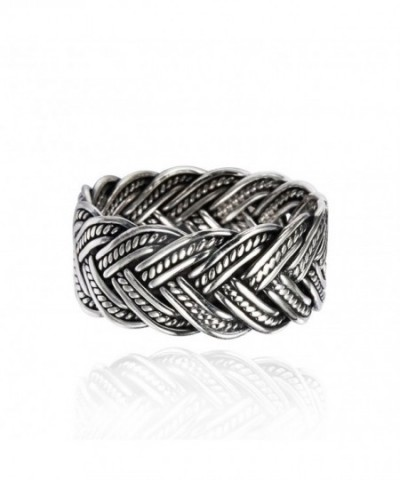 Oxidized Sterling Silver Braided Antique