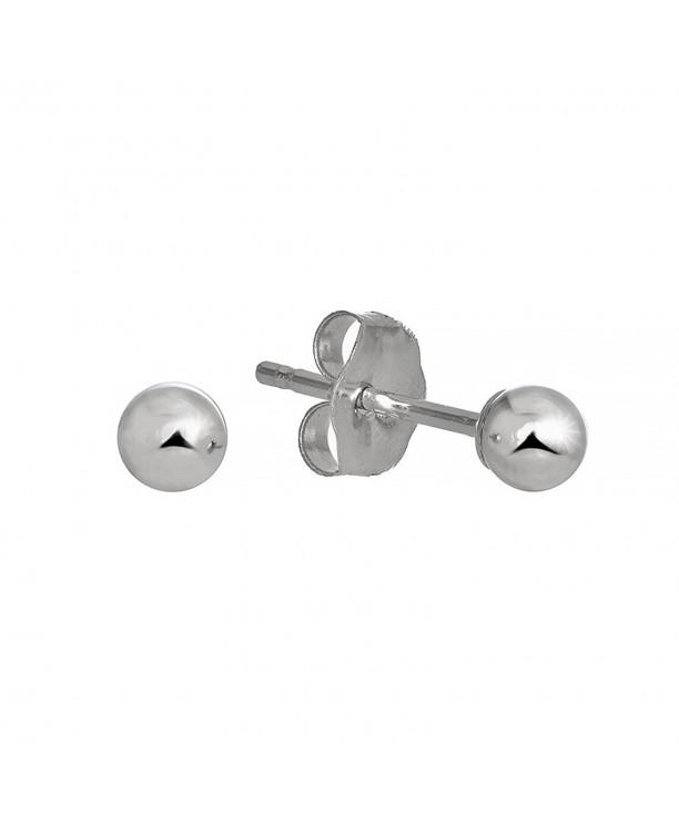 JewelStop White Earrings Friction Backs