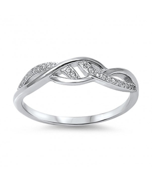 Infinity Style Zirconia Sterling Silver