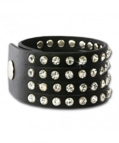 SilberDream leather bracelet Zirkonia LAP230S