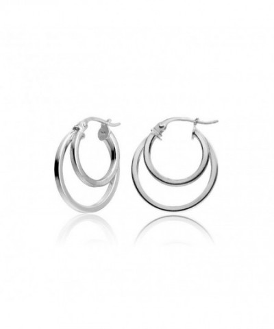 Hoops Loops Sterling Round Tube Polished