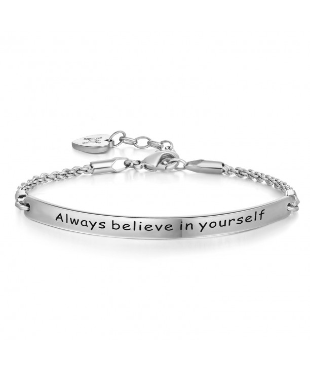 Annamate Engraved yourself Inspirational Bracelet
