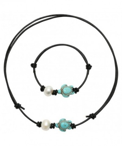 PearlyPearls Freshwater Cultured Necklace Turquoise