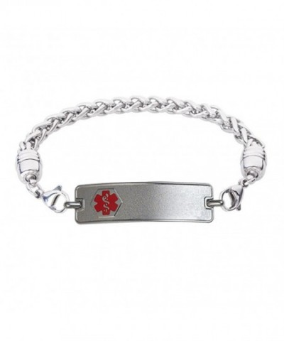 Divoti Engraved Bracelet Stainless Red 6 5