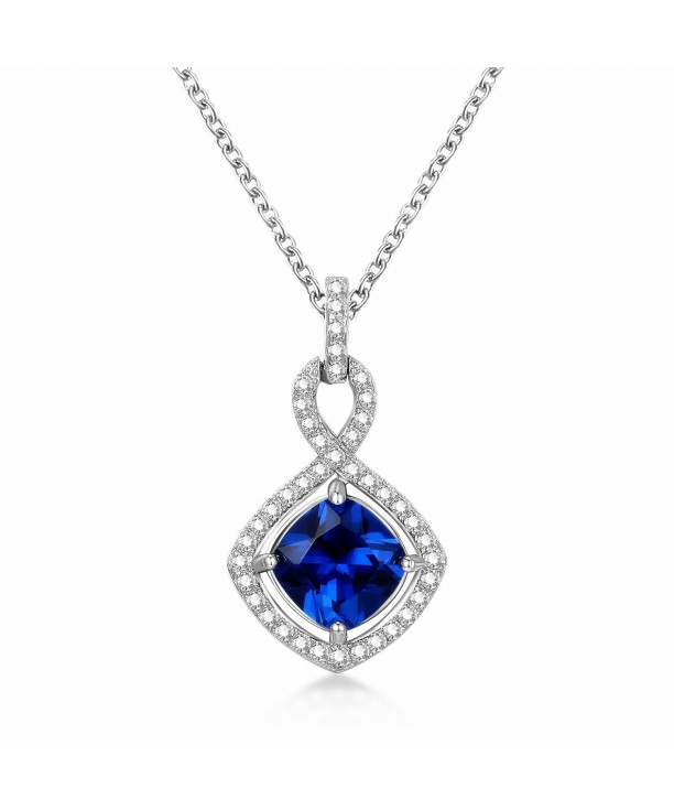 f05a37438d39af Sterling Silver Created White and Blue Sapphire Jewelry Infinity ...