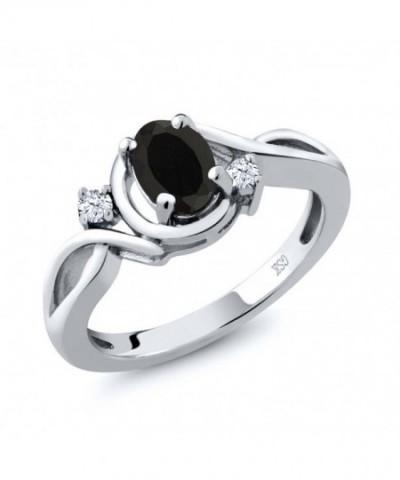 Black White Topaz Sterling Silver