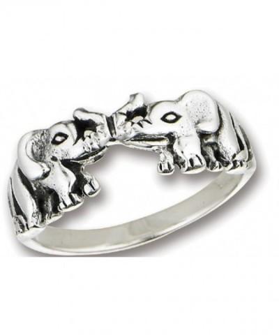 925 Sterling Silver Elephant Trunks