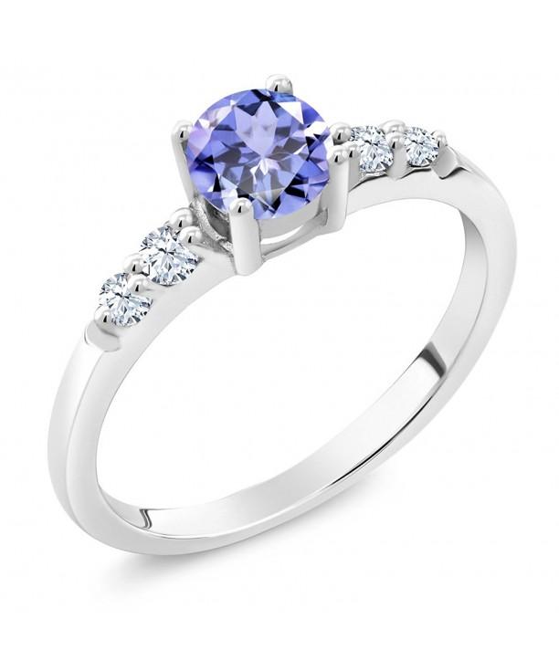 Tanzanite Created Sapphire Sterling Silver