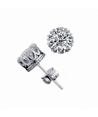 megko Sterling Brilliant Crystal Earrings