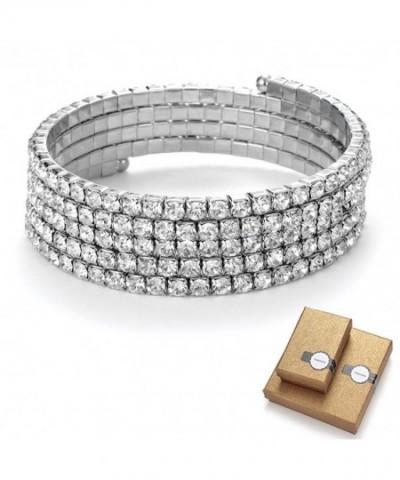 TENGZHEN Bridal Handmade Rhinestone bracelets