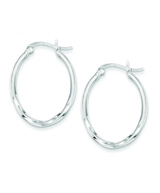 Sterling Silver Twisted Oval Earrings