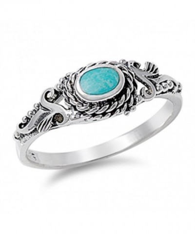 Simulated Turquoise Wholesale Sterling Silver
