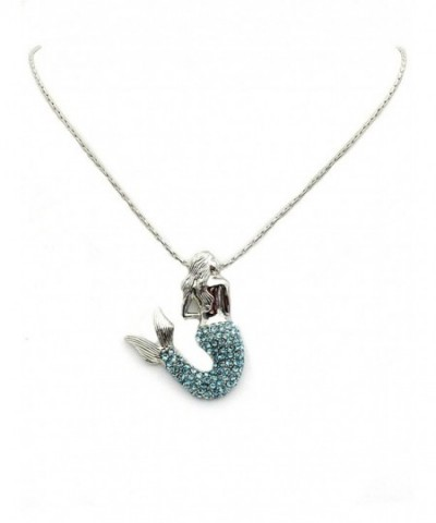 Faship Gorgeous Crystal Mermaid Necklace