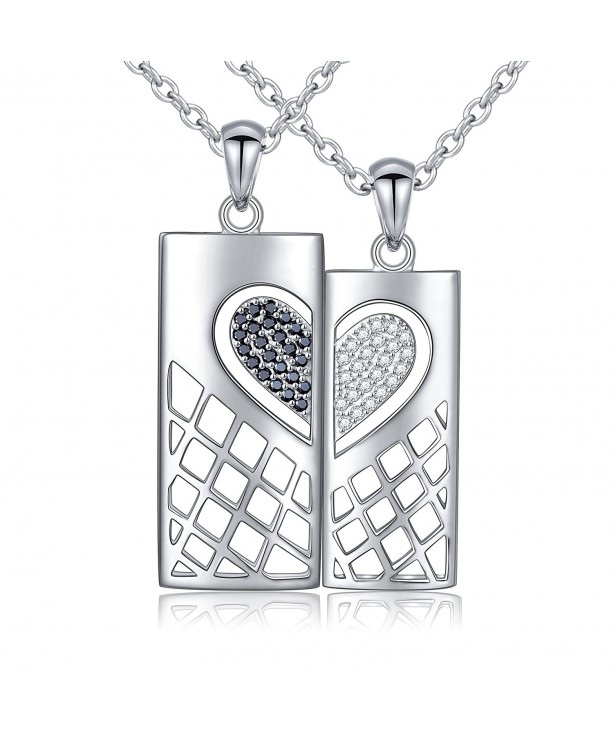 Sterling Pendant Necklace Matching Zirconia