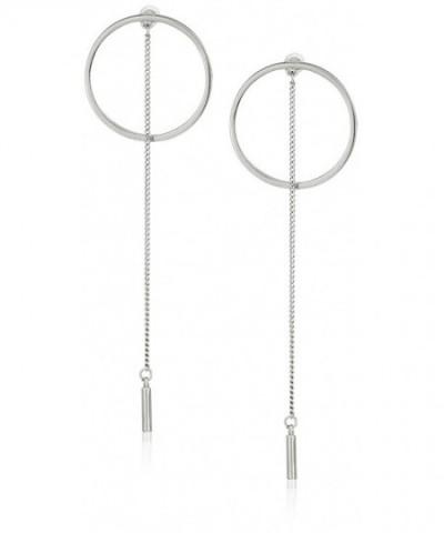 Steve Madden Rhodium Short Earrings