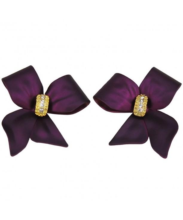 Rucinni 10333PP RUCINNI Purple Earrings