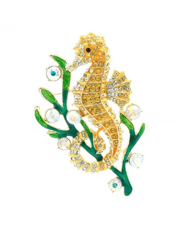 SEPBRIDALS Rhinestone Crystal Seahorse Jewelry