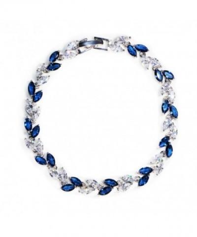 Crystal Bracelet Sapphire Birthstone Wedding