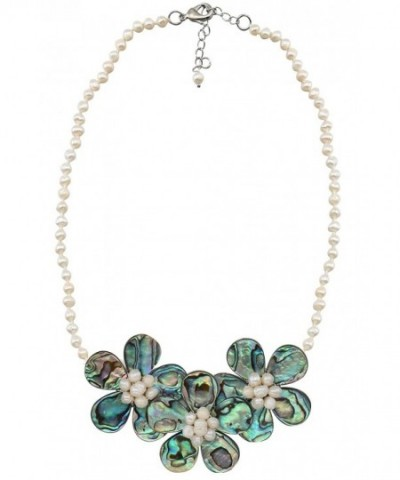 Statement Pendant Necklace Natural Synthetic
