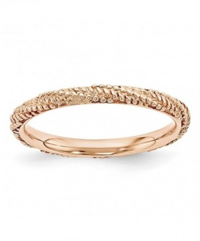 2 25mm Plated Sterling Stackable Textured