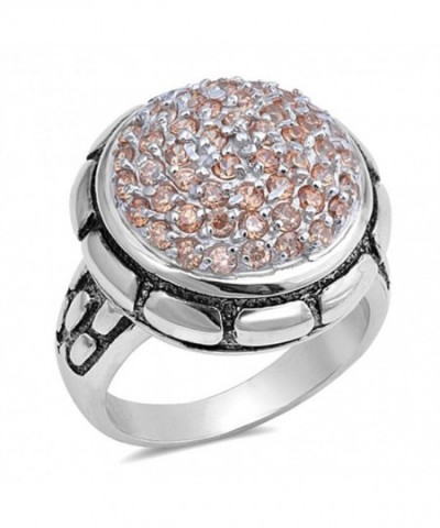 Champagne Simulated Fashion Sterling Silver