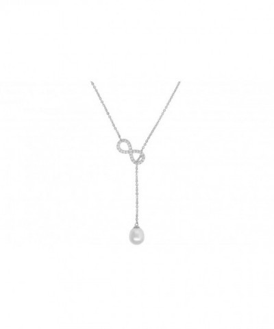 Sterling Zirconia Infinity Synthetic Necklace