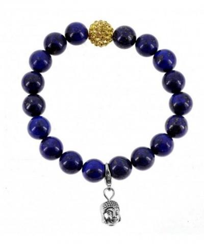 Rhinestone Simulated Lapis Lazuli Bracelet