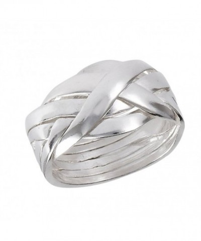 Piece Puzzle Weave Sterling Silver