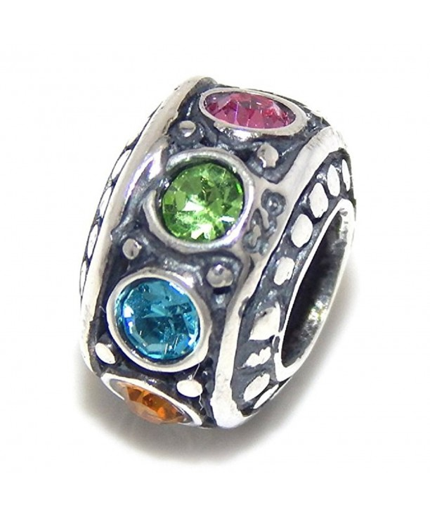 Sterling Silver Multicolor Crystal Ronelle