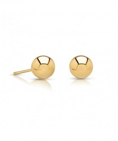 Yellow Polished Earrings Comfortable Friction